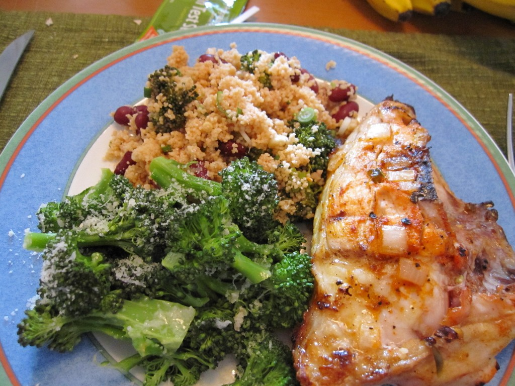 Grilled Chicken, Broccoli and Couscous Salad